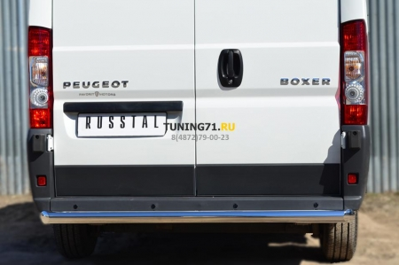 Peugeot Boxer L1H1  2012- Защита заднего бампера d76 (прямая) PBZ-001658